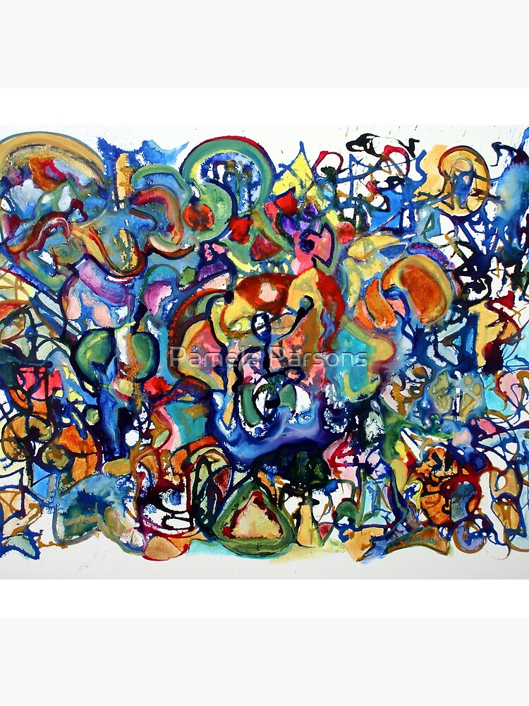 Improv, An abstract expressionist painting in the spirit of jazz improvisation by parsonsp