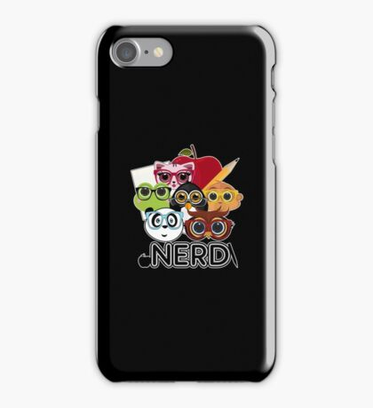 Nerd 3 - Black iPhone Case/Skin