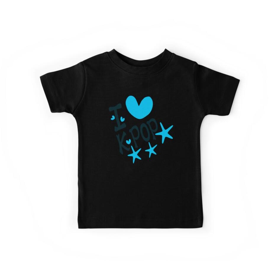 I loveKPOP txt hearts stars vector graphic art  by cheeckymonkey
