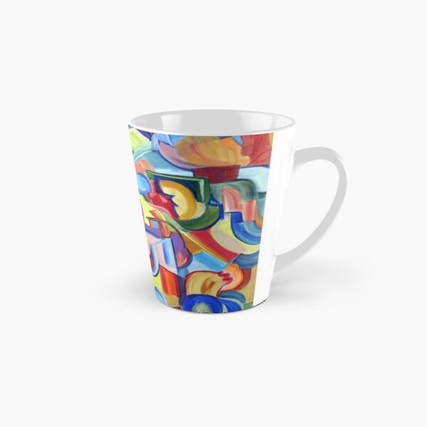 Around the Town. An abstract expressionist, geometric, acrylic painting by Pamela Parsons Tall Mug