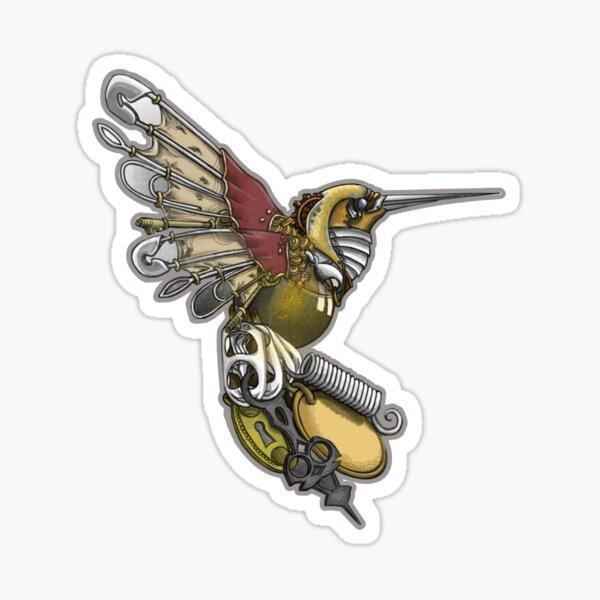 Le temps est fugace: Colibri Steampunk Sticker
