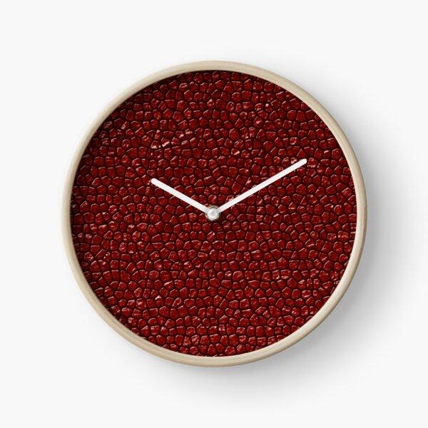 Cherry Reptile Skin Clock
