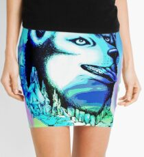 Husky Aurora Borealis Dream Mini Skirt