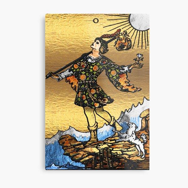 Tarot Gold Edition - Major Arcana - The Fool   Metal Print