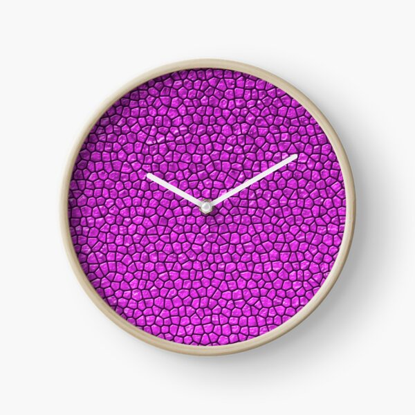 Fuchsia Reptile Skin Clock
