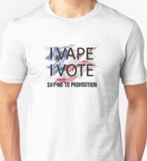 I VAPE I VOTE NO to Prohibition  Slim Fit T-Shirt