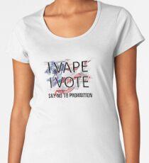 I VAPE I VOTE NO to Prohibition  Premium Scoop T-Shirt