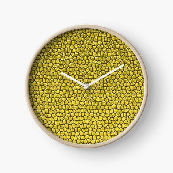 Pineapple Reptile Skin Clock
