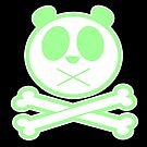 Panda Cross Bone - Green 2 by Adamzworld