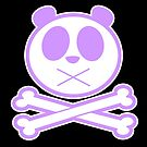 Panda Cross Bone - Purple 2 by Adamzworld