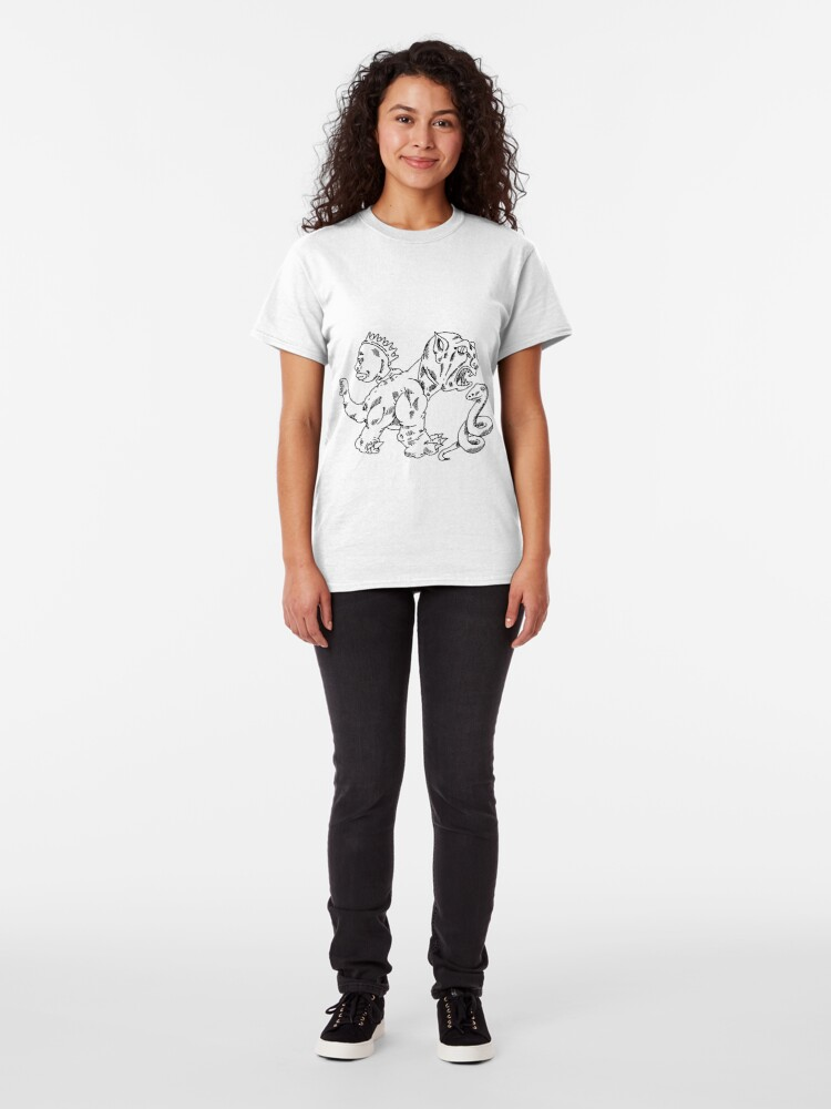 Alternate view of a dragon dog, a snake, and the face of a woman Classic T-Shirt