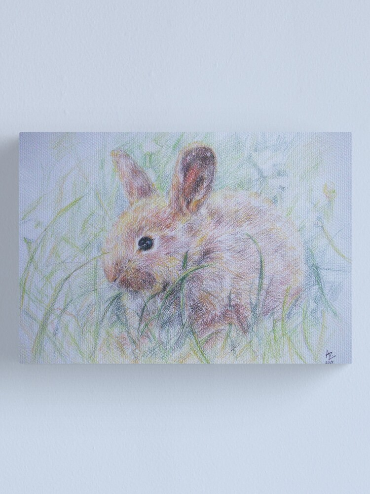 Alternate view of Bunny Canvas Print