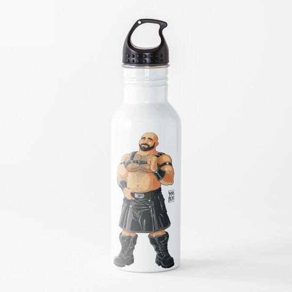 JIM LIKES LEATHER KILTS Water Bottle