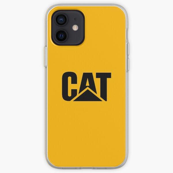 Logotipo Caterpillar Potrait Negro Funda blanda para iPhone