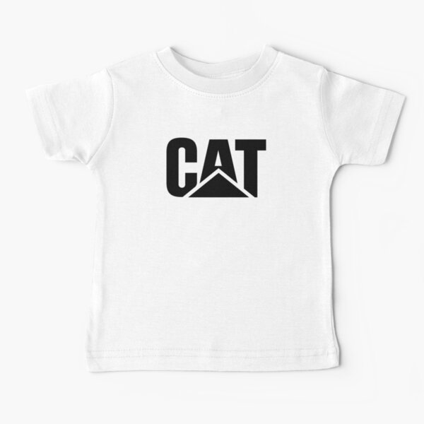 Logotipo Caterpillar Potrait Negro Camiseta para bebés