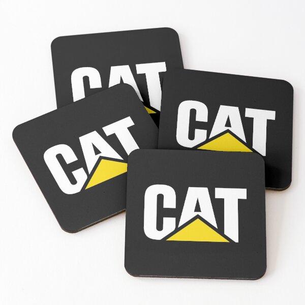 Caterpillar Potrait Logo White Yellow Coasters (Set of 4)