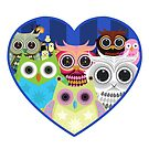 Love Owls 2 (White) by Adamzworld