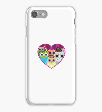 Love Owls 1 (white) iPhone Case/Skin