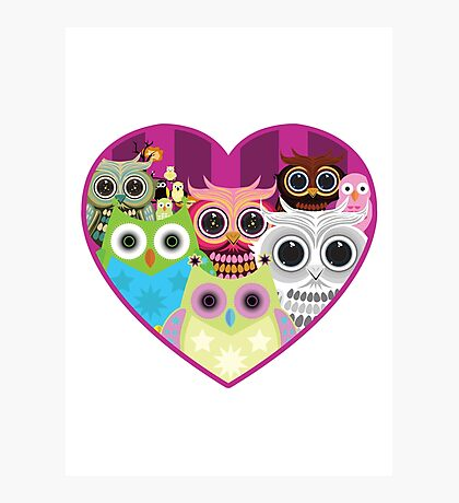 Love Owls 1 (white) Photographic Print