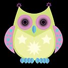 Star Owl - Green Purple Blue 2 by Adamzworld