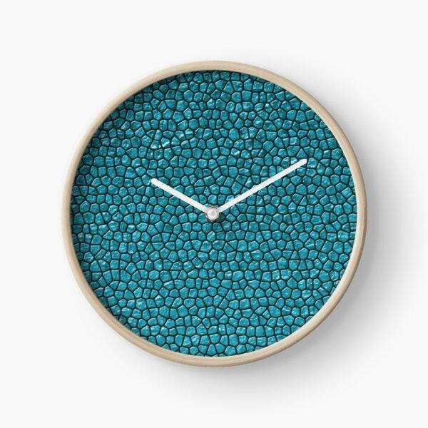Sapphire Reptile Skin Clock