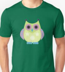 Star Owl - Green Purple Blue T-Shirt