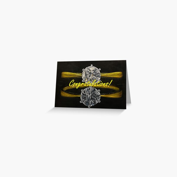 Engagement Card - Congratulations message Greeting Card