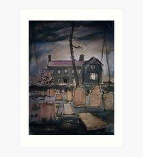 'Haworth Parsonage' Art Print