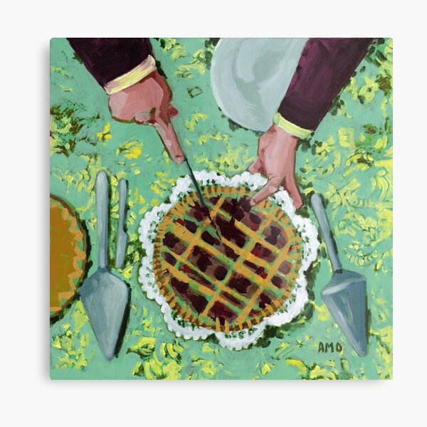 Cranberry lattice pie Metal Print