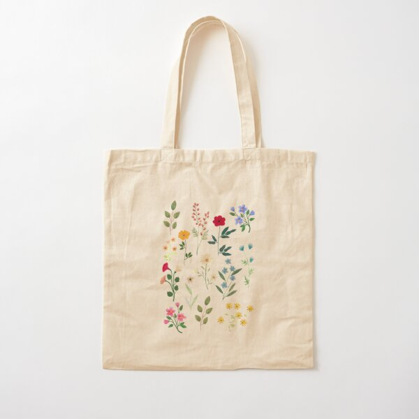 Spring Botanicals Cotton Tote Bag