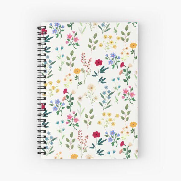 Spring Botanicals Spiral Notebook
