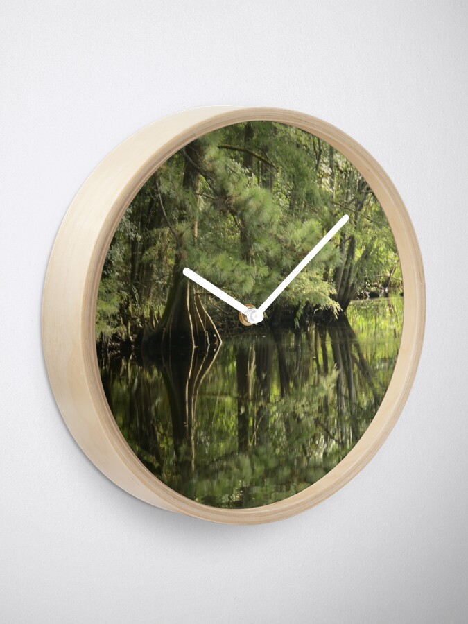 Alternate view of down on the bayou Clock