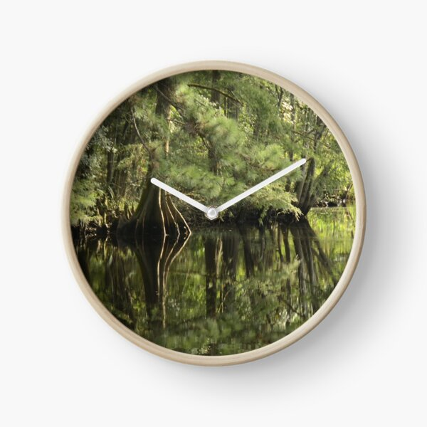 down on the bayou Clock