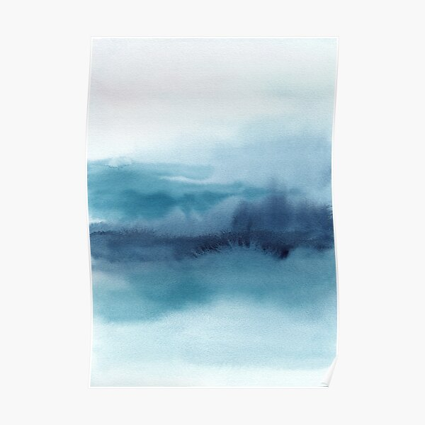 Abstract Landscape Painting Poster