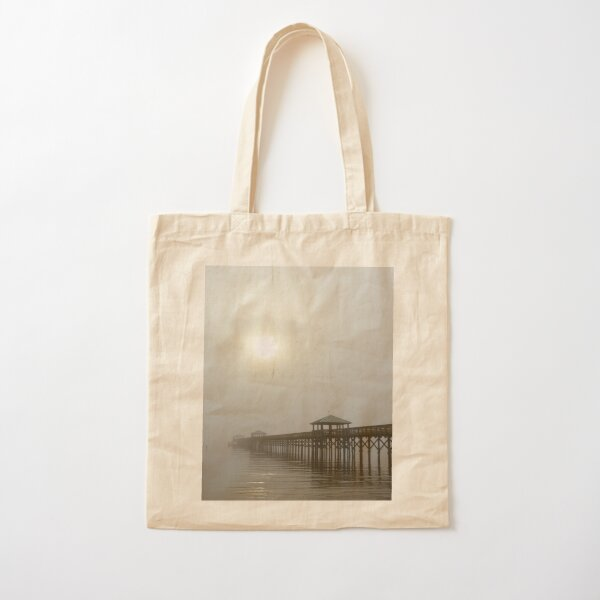 Bay St Louis Pier Cotton Tote Bag