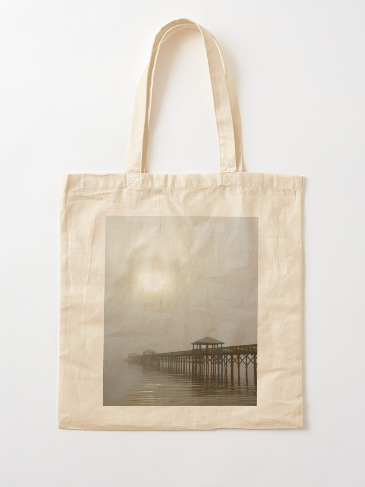 Alternate view of Bay St Louis Pier Tote Bag