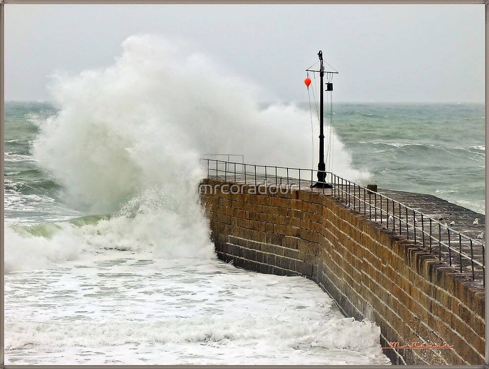 """""""Cornwall again under attack from the Alantic storms"""" by Malcolm Chant"""