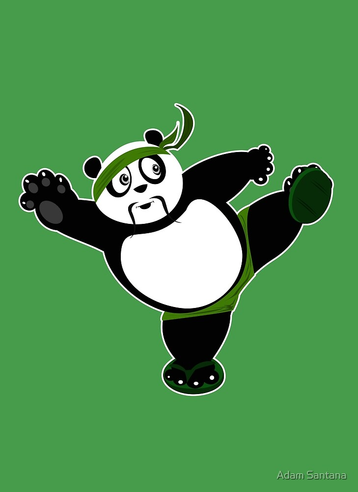 Martial Arts Panda 2 - Green by Adamzworld