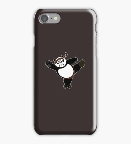 Martial Arts Panda 2 - Brown iPhone Case/Skin