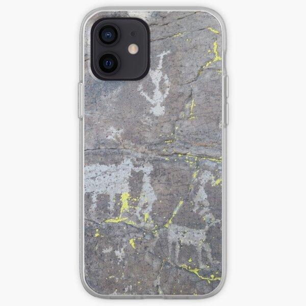 Arcosanti AZ petroglyphs iPhone Soft Case