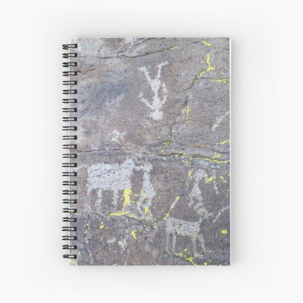 Arcosanti AZ petroglyphs Spiral Notebook