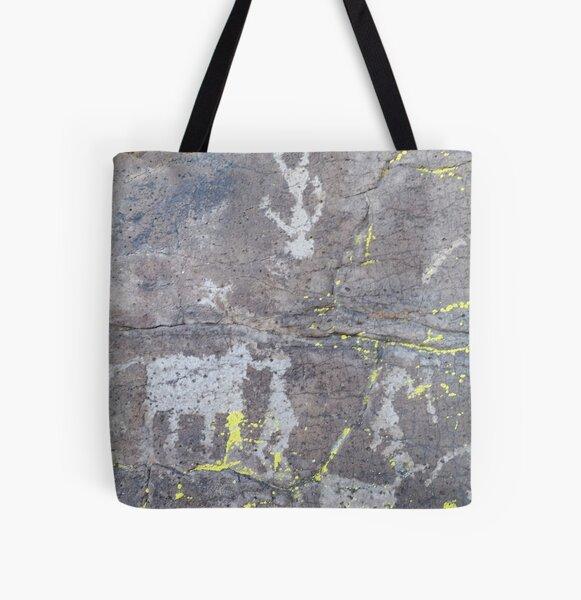 Arcosanti AZ petroglyphs All Over Print Tote Bag