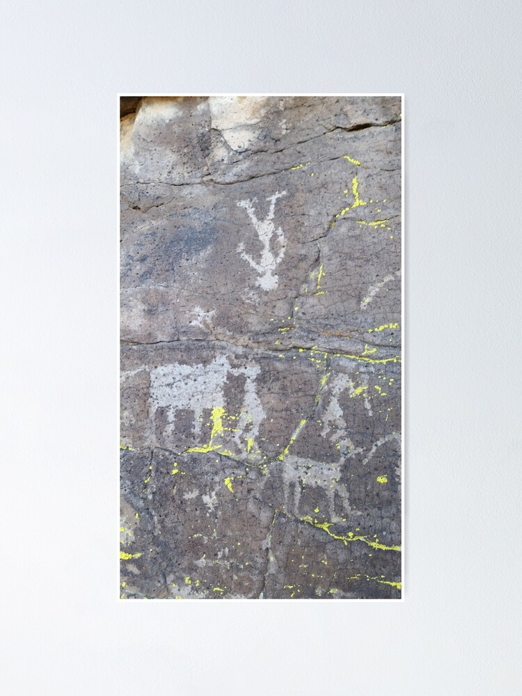 Alternate view of Arcosanti AZ petroglyphs Poster
