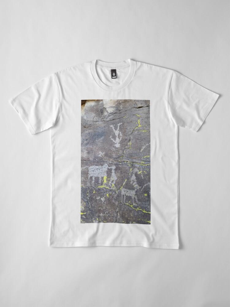 Alternate view of Arcosanti AZ petroglyphs Premium T-Shirt