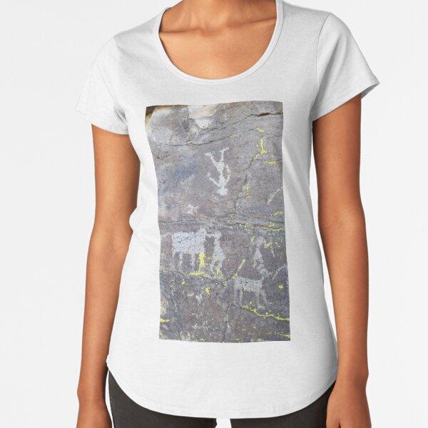Arcosanti AZ petroglyphs Premium Scoop T-Shirt