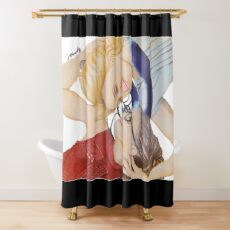 Orphan Black| Cosima and Delphine- The Golden Ratio Shower Curtain