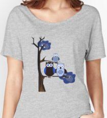 Blue Owls Women's Relaxed Fit T-Shirt