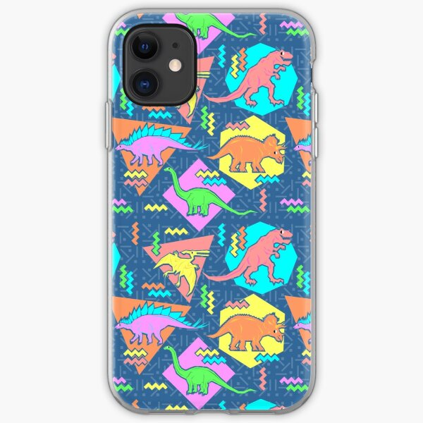 Nineties Dinosaurs Pattern iPhone Soft Case
