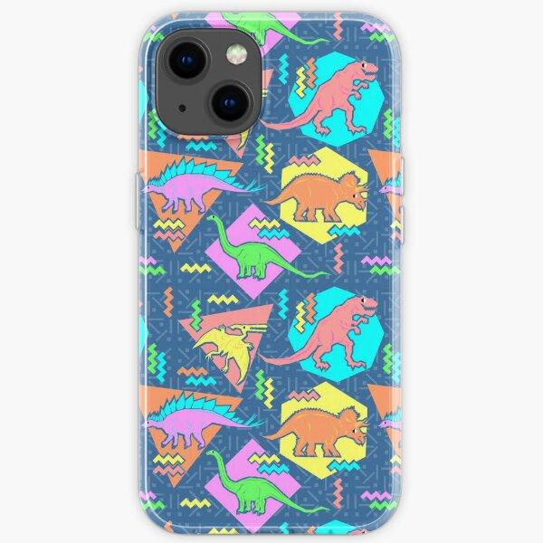 Nineties Dinosaurs Pattern iPhone Soft Case