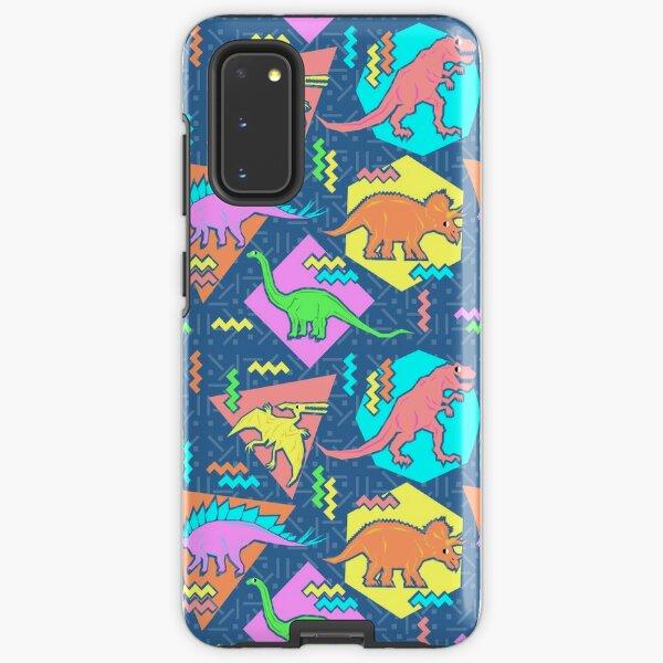Nineties Dinosaurs Pattern Samsung Galaxy Tough Case